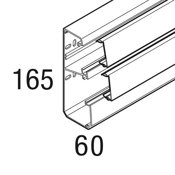 GOULOTTE 2 COMPARTIMENTS 165X60