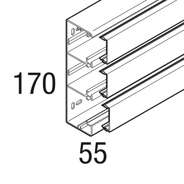 GOULOTTE 3 COMPARTIMENTS AVEC CLOISONS PREPOINCONNEES IP40 IK07