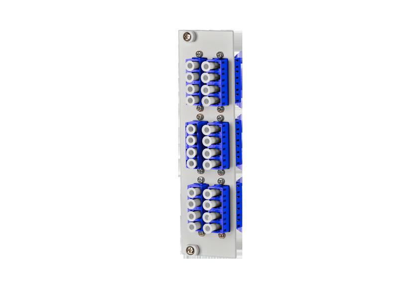 Boitier rail DIN fibre optique pour 24 épissures